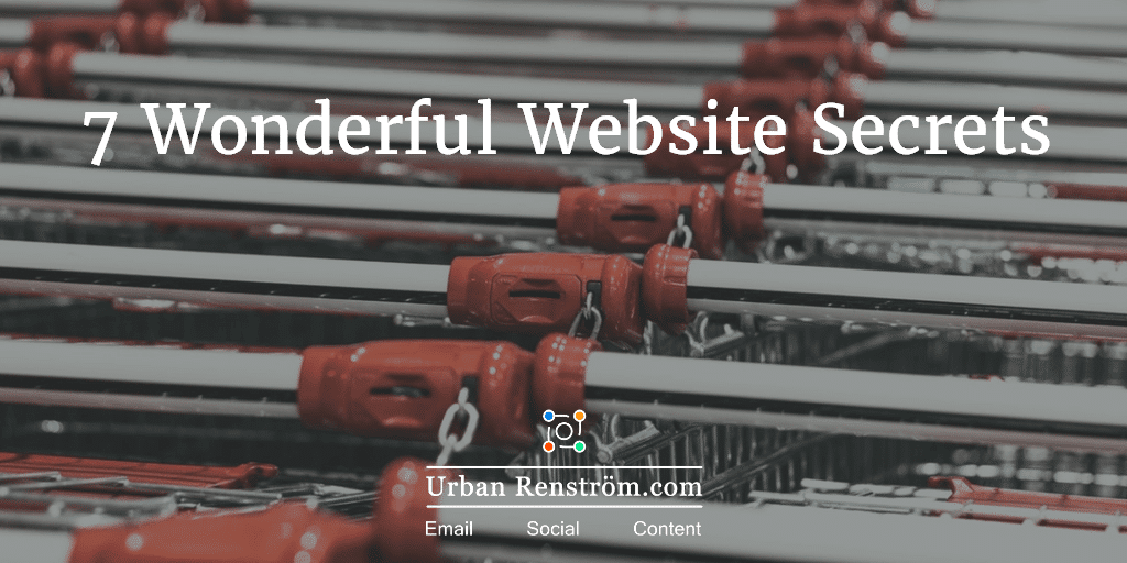 7 wonderful website secrets