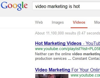 Video Marketing Google Results