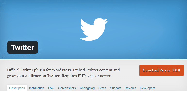 Twitter WordPress