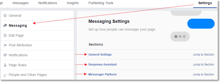 Facebook Response Assistant set up