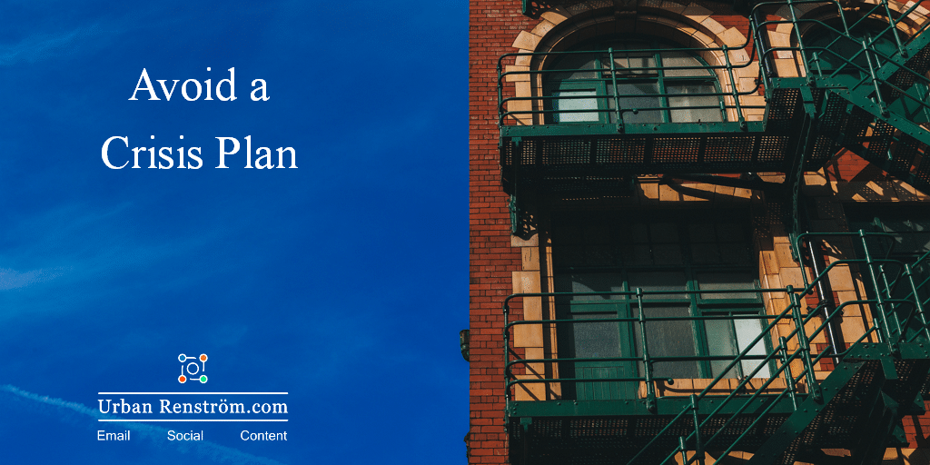 crisis avoided plan