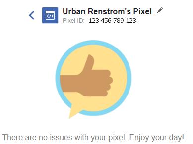 Facebook Ads Facebook Pixel Status